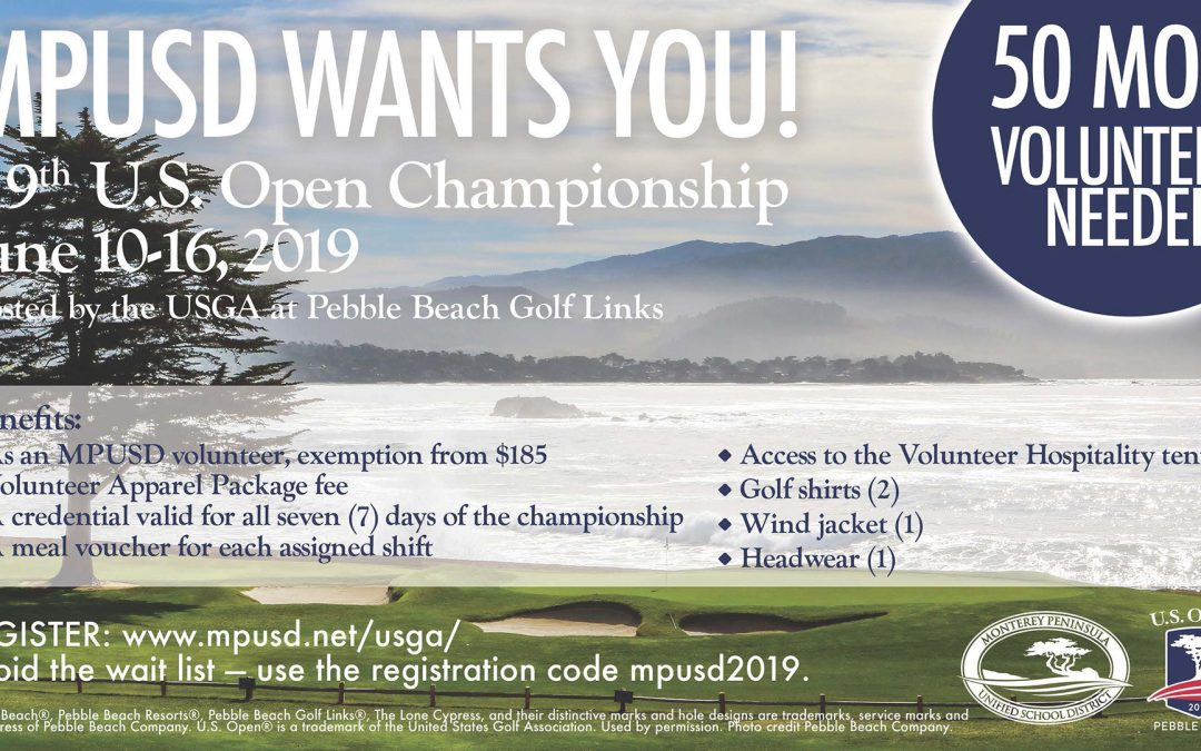 Last Call: Become an MPUSD Volunteer at the 119th U.S. Open Championship